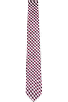 PAUL SMITH Mini gingham silk tie