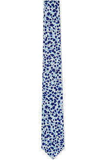 PAUL SMITH Mainline ink splodges silk tie