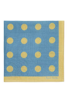 PAUL SMITH Polka dot cotton pocket square
