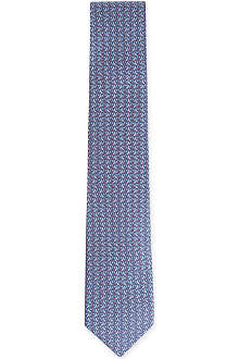 FERRAGAMO Golf club-printed silk tie