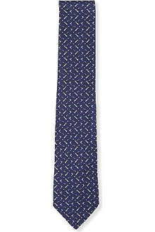 FERRAGAMO Golf bag-printed silk tie