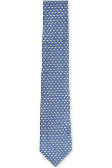 FERRAGAMO Jockey accessories-printed silk tie