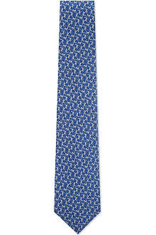 FERRAGAMO Cats playing printed tie