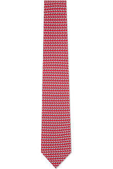 FERRAGAMO Bent golf club silk tie