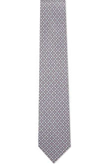 FERRAGAMO Mini flower silk tie