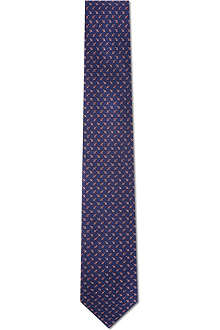 FERRAGAMO Spinning top silk tie
