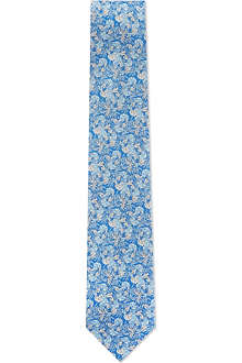 FERRAGAMO Leaves silk tie