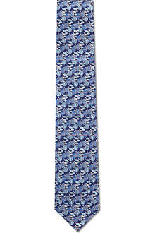 FERRAGAMO Hot air balloon silk tie
