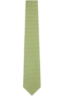 FERRAGAMO Outline butterfly silk tie