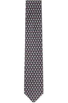 FERRAGAMO Dog silk tie