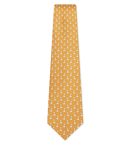 Seal and ball silk tie