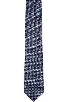FERRAGAMO Gancino and golf silk tie