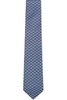 FERRAGAMO Long-tail fox silk tie