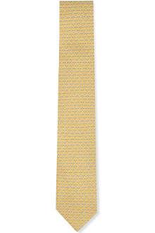 FERRAGAMO Trophy-print silk tie