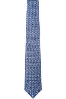 FERRAGAMO Linked gancino silk tie