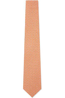 FERRAGAMO Linked gancino silk tie