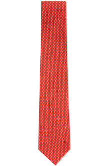 FERRAGAMO Mini flowers silk tie