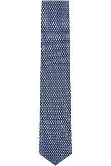 FERRAGAMO Repeat tulips silk tie