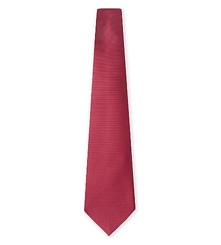 SALVATORE FERRAGAMO Solid twill silk tie (Cherry
