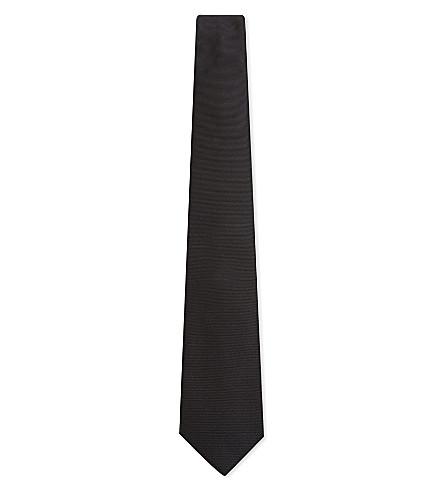 SALVATORE FERRAGAMO Twill silk tie (Black