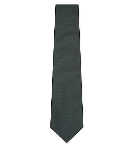 SALVATORE FERRAGAMO Gancho jacquard silk tie (Green