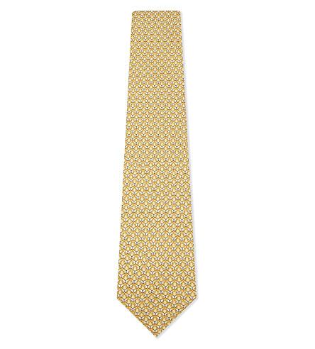 SALVATORE FERRAGAMO Butterfly silk tie (F.giallo/paglia