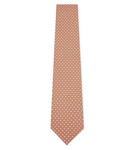 SALVATORE FERRAGAMO Butterfly silk tie (F.arancio/rosa