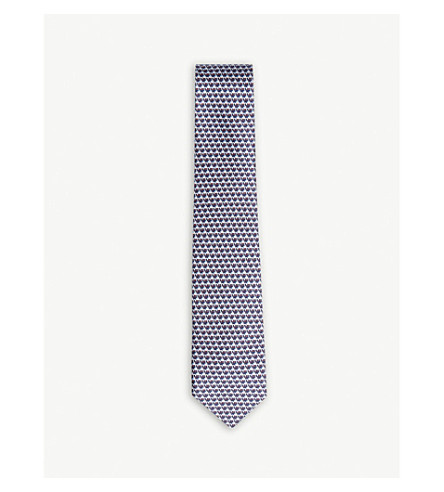 SALVATORE FERRAGAMO Flamingo silk tie (Light+blue