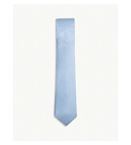 SALVATORE FERRAGAMO Gancio silk tie (Light+blue