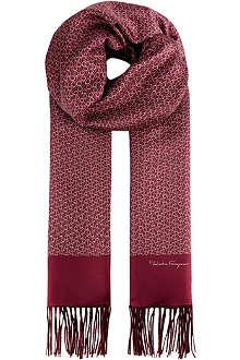 FERRAGAMO Silk-cashmere scarf
