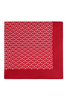 FERRAGAMO Patterned silk pocket square