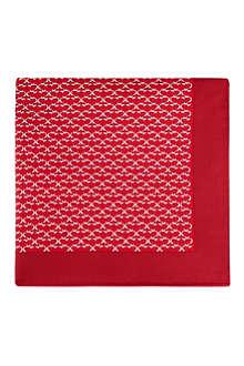 FERRAGAMO Patterned silk pocket square