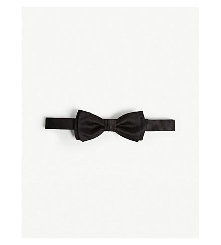 SALVATORE FERRAGAMO Twill weave silk bow tie (Black