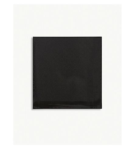 SALVATORE FERRAGAMO Logo silk pocket square (Black