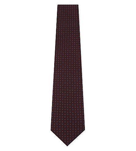 SALVATORE FERRAGAMO Mini Gancho silk tie (Bordeaux