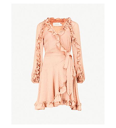 ZIMMERMANN Wrap silk-chiffon dress (Nude