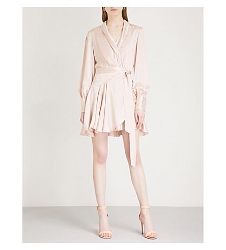 ZIMMERMANN Flared-hem silk wrap dress (Musk