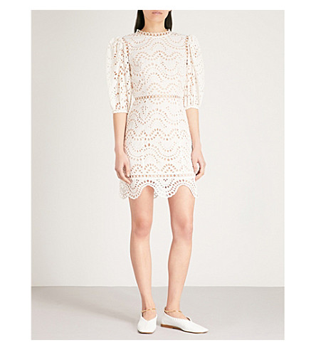 ZIMMERMANN Jaya wave cotton dress (Ivory