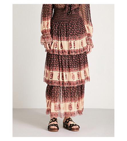 ZIMMERMANN Jaya tiered silk-chiffon maxi skirt (Stamp