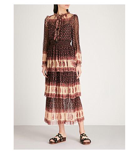 ZIMMERMANN Jaya Stamp layered silk-chiffon dress (Stamp