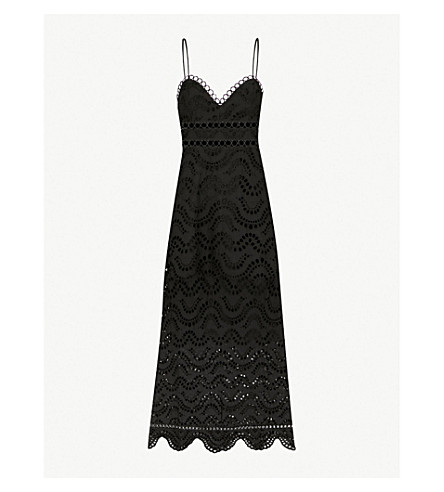 ZIMMERMANN Jaya Wave cotton midi dress (Noir