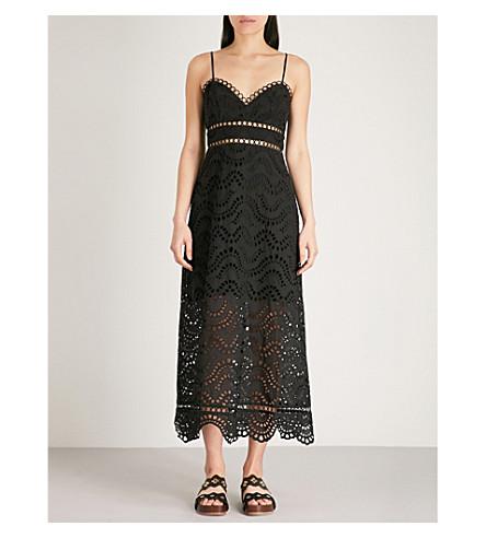 ZIMMERMANN Jaya Wave cotton midi dress (Noir
