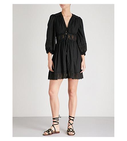 ZIMMERMANN Iris corset-waist cotton mini dress (Noir