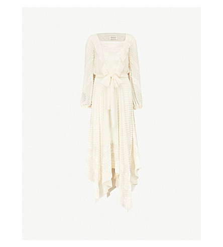 ZIMMERMANN Unbridled silk-chiffon dress (Pearl