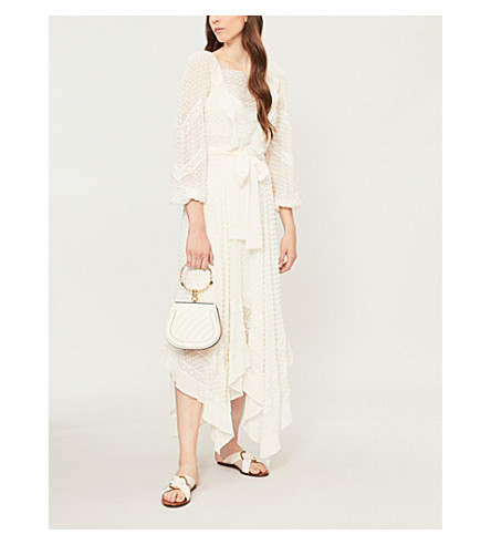 ZIMMERMANN Unbridled silk-chiffon dress (Pearl