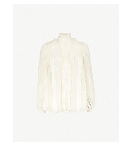 ZIMMERMANN Unbridled silk-chiffon top (Pearl