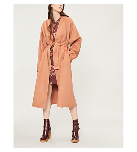 ZIMMERMANN Unbridled wool coat (Nude
