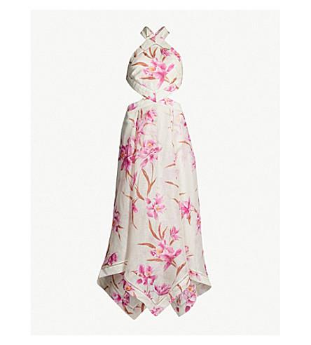 ZIMMERMANN Corsage linen and silk-blend dress (Sage fchs