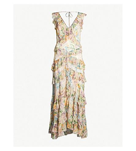 ZIMMERMANN Flutter silk-chiffon maxi dress (Tulip floral