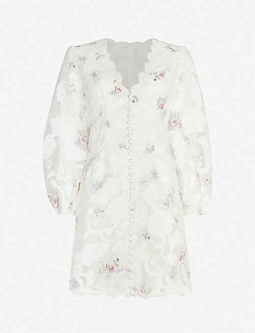 ZIMMERMANN Zinnia floral-print woven mini dress